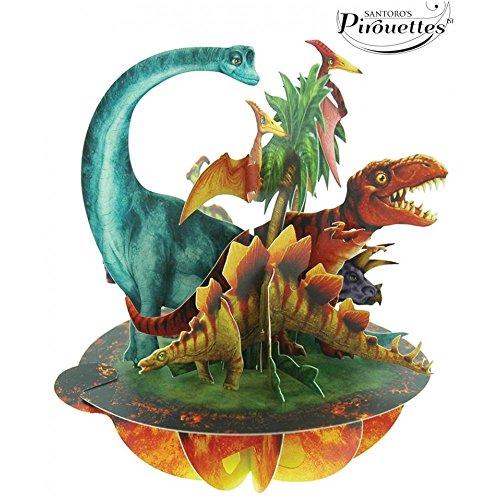 Tarjeta 3D Dinosaurios