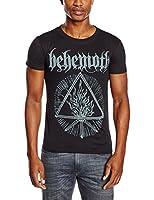 Behemoth Men's Furor Divinus Banded Collar Short Sleeve T-Shirt