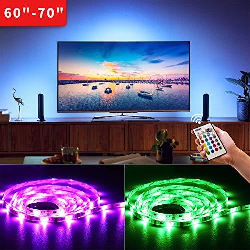 BASON USB LED TV Hintergrundbeleuchtung für 60 bis 75 Zoll TV Backlight/Fernseher Beleuchtung Dekoration RGB LED Band Streifen Lighting