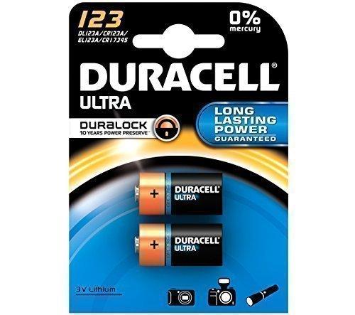 Duracell DL123A Doppelpack Ultra CR123A/EL123A 3V Lithium Batterie für Langanhaltende...