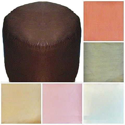 Saffron-Sgabello poggiapiedi sgabello, Pouf rotondo con cuscino
