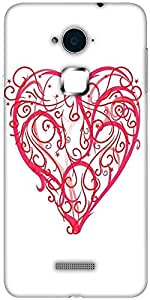 Snoogg abstract heart vector Solid Snap On - Back Cover all Around protection For Coolpad Note 3 (White, 16GB)