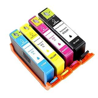 ASW Ersatz für HP 903 903XL Tintenpatronen Kompatibel mit HP OfficeJet Pro 6950 6970 6960 All-in-One-Drucker 1 Schwarz 1 Cyan 1 Magenta 1 Gelb High Yield 4 Pack
