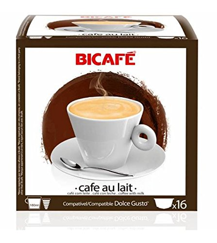 Order 96 (6x16 Capsule Packs) BiCafe ® Cafe Au Lait Dolce Gusto ® Compatible Coffee Capsules - BiCafe