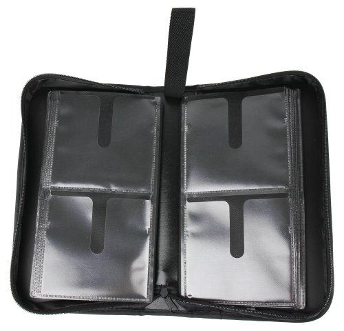 DURAGADGET Transport-Etui Aufbewahrungs-Tasche Wallet Sammel-Album Mappe für 80 DVDs + CDs, perfekt als Ergänzung & Zubehör für Ihren tragbaren DBPower DVD-Player (7.5