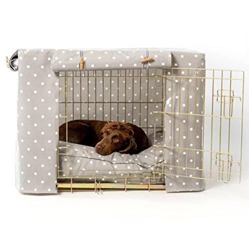 Hidey-Hidey Box- / Käfigabdeckung, für Pets at Home Hundekäfig, mit Punktemuster, Grau; Größe:...