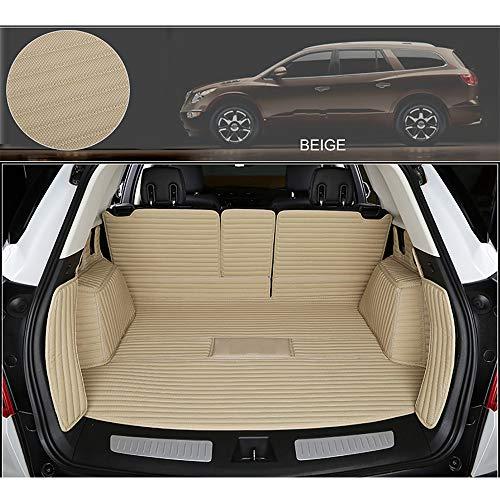 MAOMAOQUEENss Kofferraummatte Safeguard Kompatibel Mit BMW X1 / X3 / X4 / X5 / X6,Komplett Geschlossene Kofferraummatte,Mikrofasermaterial,Ideale Passgenauigkeit,HöChste QualitäT,Geruchlos,beige-x6