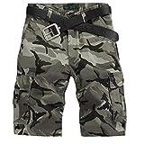 NiSeng Vintage Combat Camo Cargo Shorts Randonnée Pantalons Bermuda Pantacourt ...