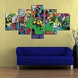 ZEMER CuadrosEn Lienzo Avengers Infinity War Superhero Marvel Comics Cartel De La Película Pintura De Arte Mural para Niños Kids Home Decor (Sin Marco)