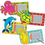 Pizarras mágicas de animales marinos para niños - bolsa de relleno para piñatas (Pack de 8)