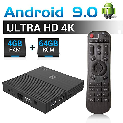 A95X F2 Android 9.0 TV Box 4GB RAM 64GB ROM TV Box Amlogic S905X2 Quad-Core 64bits Dual-WiFi 2.4G/5.0G/ 3D 4K Ultra HD/H.265/ USB 3.0/ HDMI 2.0 Smart Media Player Smart Set top Box Dual-hdmi-set