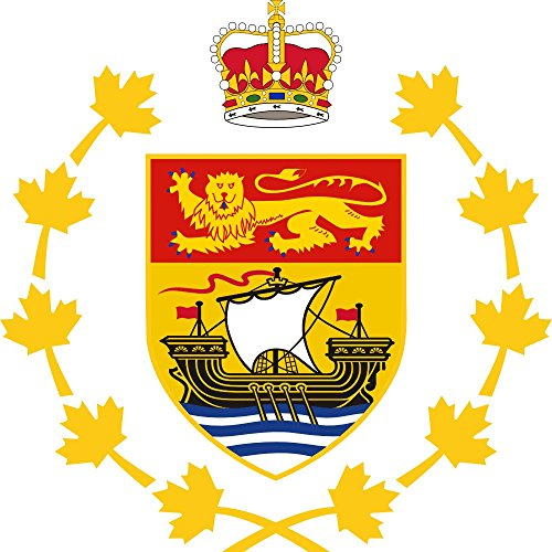 magFlags Flagge: XL Crest of The Lieutenant Governor of New Brunswick | Fahne 2.16m² | 150x150cm » Fahne 100% Made in Germany