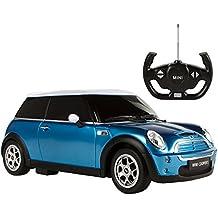 Rastar - Coche teledirigido 1:14 Mini Cooper azul (ColorBaby 85198)