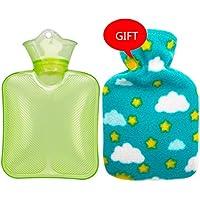 KOMEISHO Klassische PVC-heiße kalte Wasserflasche-Tasche mit Abdeckung Winter-Rückseiten-Hals-Handwärmer-Tasche... preisvergleich bei billige-tabletten.eu