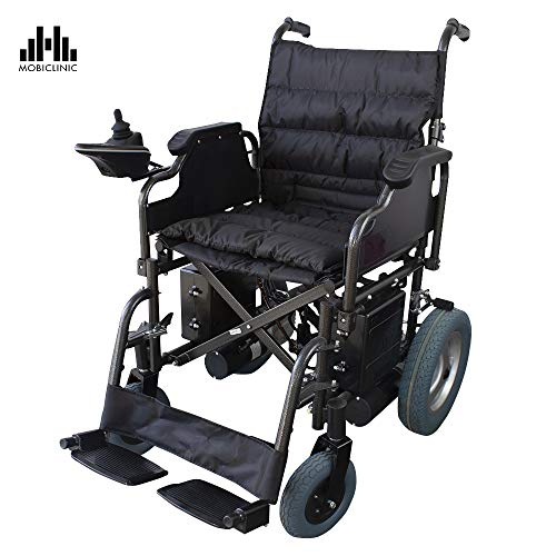 Silla de ruedas eléctrica de acero | Plegable | Color negro | Mod. Cenit | Mobiclinic
