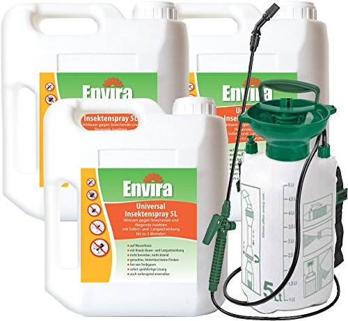 ENVIRA Gift gegen Insekten 3x5Ltr + 5Ltr Sprüher