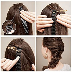 Hair Braid Fashion Magic Fish Link Waves Roller Tool Braider With Twist Hair Styling Bun Creator