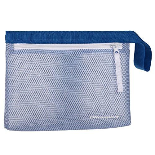 Ultrasport wasserfeste Tasche, wasserabweisender Kulturbeutel für Sport oder Schwimmtraining, auch ideal als Begleiter beim Camping, Blau