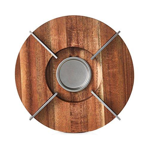 AdHoc - Stövchen - Speisenwärmer TUTO - passend Zu Tk50, Teekanne Orient+ Und Tk60, Teekanne Tubo, Akazienholz/Edelstahl, D: 16 Cm, H: 5,5 Cm