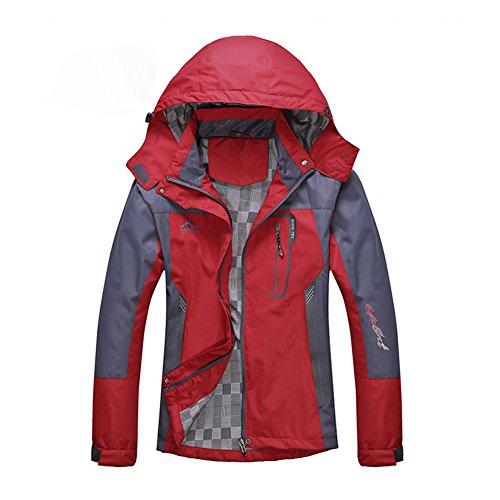 Diamond Candy Giacca a Vento softshell per Donna con cappuccio da Trekking Montagna Pouring Adventure e Outdoor Sports Rosso L