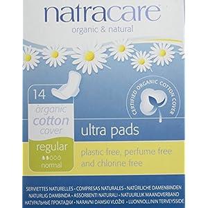 Natracare Natural Ultra Pads mit Flügeln, Standardgröße, 14 Stück