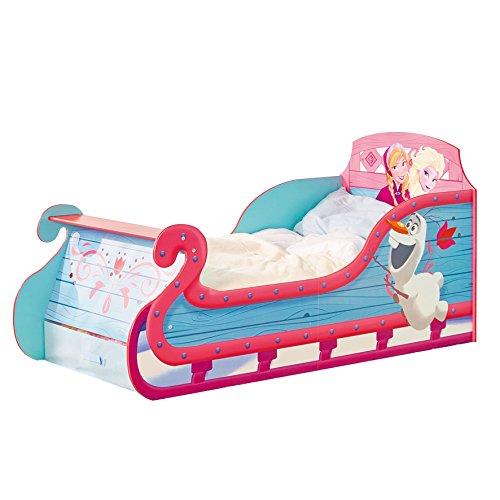 *Kleinkinderbett für Mädchen im Schlittendesign von Disney Die Eiskönigin, mit Stauraum*