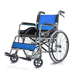 Wheelchair Aluminum alloy wheelchair Ultra light folding wheelchair Manual wheelchair Elderly disabled hand push scooter