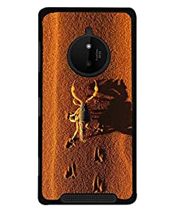 PrintVisa Shadow Of Scorpio High Gloss Designer Back Case Cover for Nokia Lumia 830