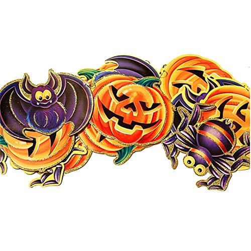 ration Halloween-Dekorationen Pull-Blumen-Anhänger-Stützen für Halloween-Party-Feiertags-Feier Startseite Pub Bar Outdoor Decor (Kürbis Insekten) 1 PC ()