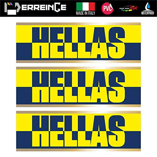 erreinge Sticker x3 Hellas Verona Ultras Supporters Adesivo Sagomato in PVC per Decalcomania Parete Murale Auto Moto Casco Camper Laptop - cm 20