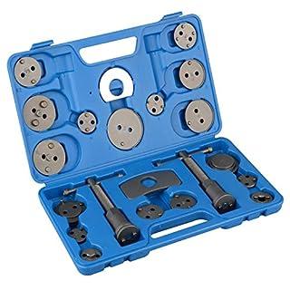 Autofather Universal Brake Caliper Piston Rewind Tool Kit 21Pcs Wind Back Tools Set with Storage Case