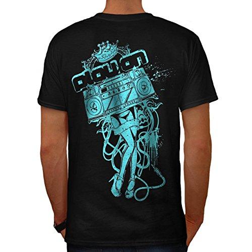 Techno Kostüm Punk (Band Tanzen Verein Dj Musik Kostüm Herren S T-shirt Zurück |)