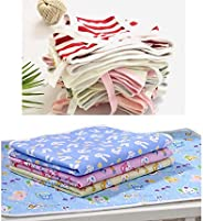 Infantbond Born Baby 24 Hosiery Cotton Single Nappies   4 Nappy Changing Waterproof Sheets(Total Items: 28)(0-