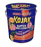 FIESTA Kojak Surtido Vintage Lata metálica con 150 unidades caramelos con palo rellenos de chicle. Sabores surtidos: cola, mora, sandía y helado de fresa