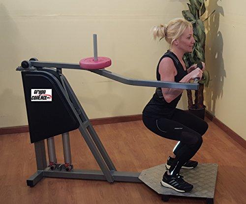 Maquina biceps, triceps sentadillas hidraulica y a discos