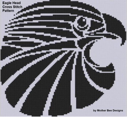 Eagle Head Cross Stitch Pattern (English Edition)