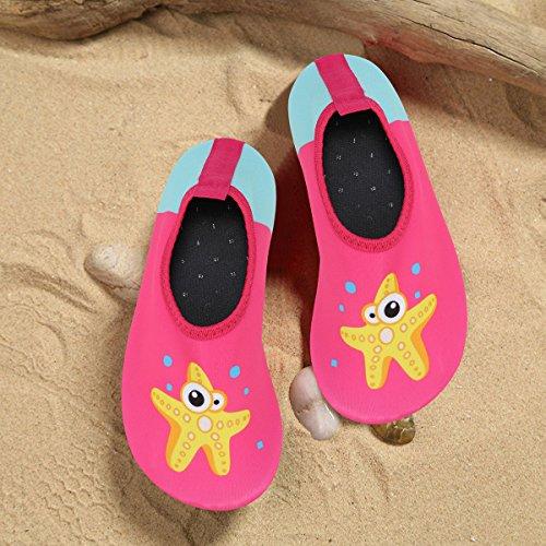 Bild von Qimaoo Kinder Badeschuhe Leicht Schwimmschuhe Schnell Trocknend Wasserschuhe Casual Strandschuhe Baby Surfschuhe Aquaschuhe für Mädchen und Jungen
