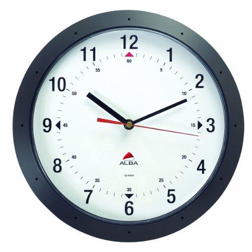 Runde Wanduhr EASY TIME, schwarz/HORMURN Durchmesser: 30 cm