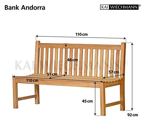 ᐅ gartenguru.net ᐅ Massive Gartenbank Andorra aus Teakholz ohne ...