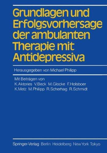 Grundlagen und Erfolgsvorhersage der ambulanten Therapie mit Antidepressiva Der Allgemeinmedizin Ambulante