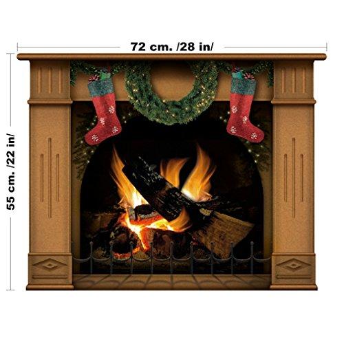 lepni.me Decoración de Navidad - Chimenea ... (Medio, Marrón)
