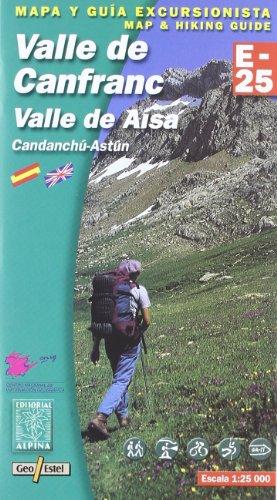 VALLE DE CANFRANC (E-25. Mapas guía excursionistas)