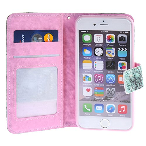 """MOONCASE pour iPhone 6 / 6S (4.7"""") Case Portefeuille Cuir Housse de Coque en Protection Étui à rabat Case YZC10 YZC03 #0308"""