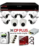 #3: CP Plus & UPVsales™ Full 2.4MP 8 Ch CCTV Combo Set Kit (8Ch DVR + 2.4 Megapixel 2 Dome & 6 Bullet Camera + Hard Disk Drive + 90Mtr Copper Cable Box + Power Supply + BNC Pins + DC Pins)