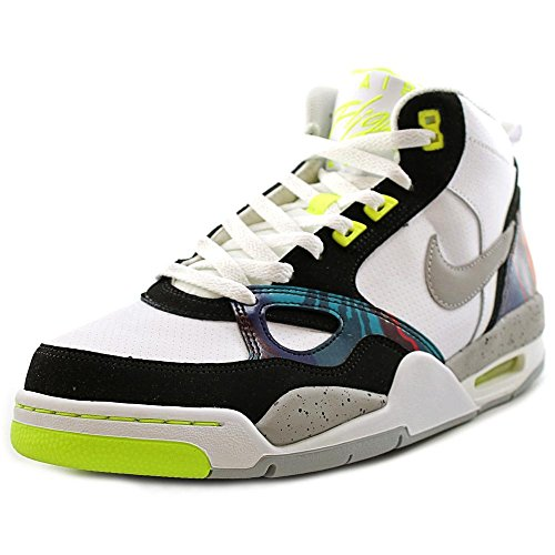 Nike Flight 13 Mid White Volt - 9.0 / 42.5 (Herren Flight Nike)