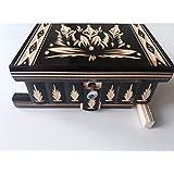 Nueva hermosa caja mágica, misteriosa caja, puzzle caja, caja secreta, hecha a mano, casilla complicado, caja de madera tallada, regalo perfecto, juguete de madera (Negro)