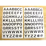9.5mm Negro Adhesivo Letras Del Alfabeto A-Z , Cortar en forma , Autoadhesivo adhesivo Etiquetas De Vinilo , Plástico Durable Pegatinas