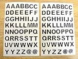 9.5mm Negro Adhesivo Letras Del Alfabeto A-Z , Cortar en forma , Autoadhesivo adhesivo Etiquetas De Vinilo , Plástico Durable Pegatinas - Adhesivo Letras A-Z , cortar en forma adhesivo Vinilo autoadhesivo Número Etiquetas - Color negro - Talla : 9.5m...