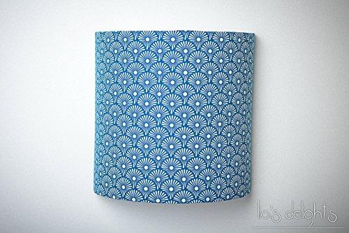applique-murale-pissenlits-bleus-japonisant-geometrique-abat-jour-abatjour