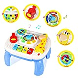 Queta Lerntisch mit Licht Musik und langem Hirsch Lerntisch Lerntisch Baby Lernspielzeug